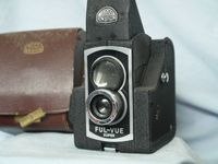 Ensign Ful Vue Super Vintage Classic English TLR Camera- Unusual Design - Nice